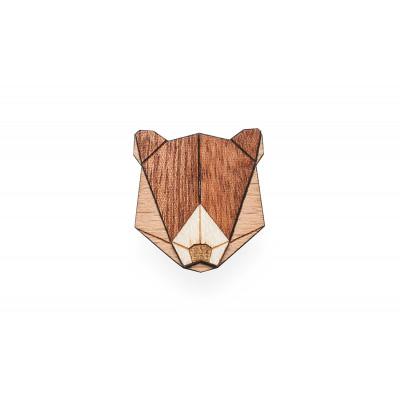 Holzbrosche Bär