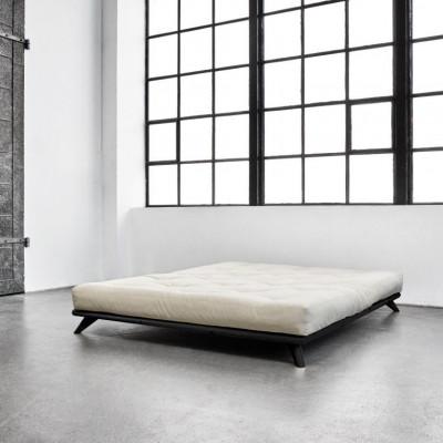 Bett Senza + Matratze Comfort | Schwarz