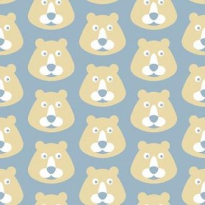 Bären mit blauem Hintergrund Wallpaper