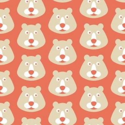 Bären mit rotem Hintergrund Wallpaper