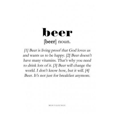Poster Definition   Beer