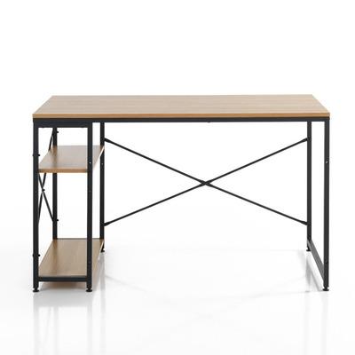 Schreibtisch Cukin A | Schwarz & Helles Holz