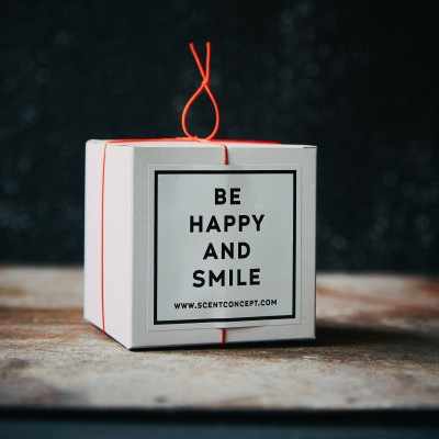 Scented Candle   Be Happy and Smile