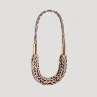 Handmade Necklace Gent   Beige