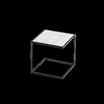 Beistelltisch NOA Stahlrahmen & Marmor   Schwarz & Weiß