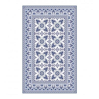 Fußmatte Bella | Blue/White-80 x 140 cm