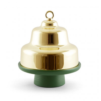 Belle Cloche Cake Stand   Green