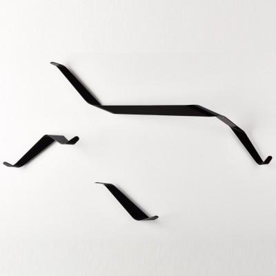 Bender Wardrobe Hooks | Black