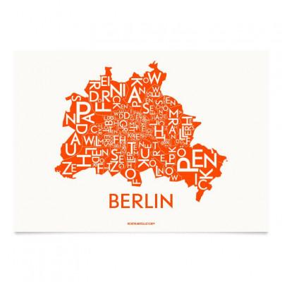 Berlin Poster | Neon Orange