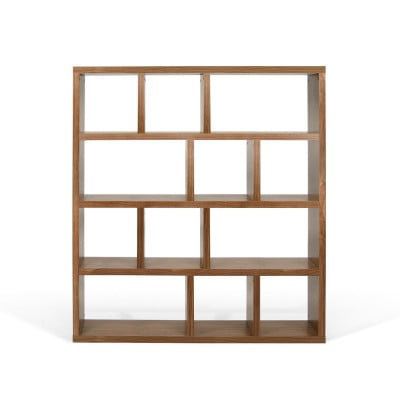 Bücherregal mit 4 Böden | Walnuss