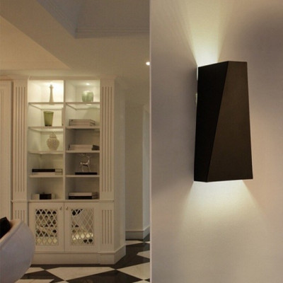 Wandlampe Geometric   Schwarz