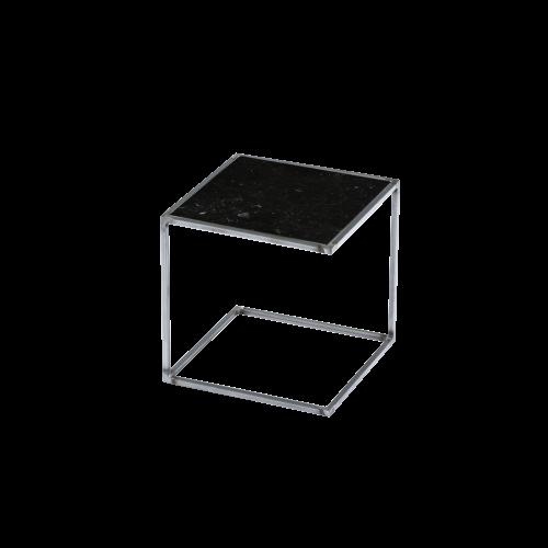 Side Table NOA Untreated Steel Frame & Marble | Black