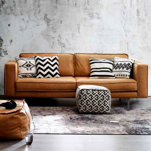2,5er-Sofa | Schwarz