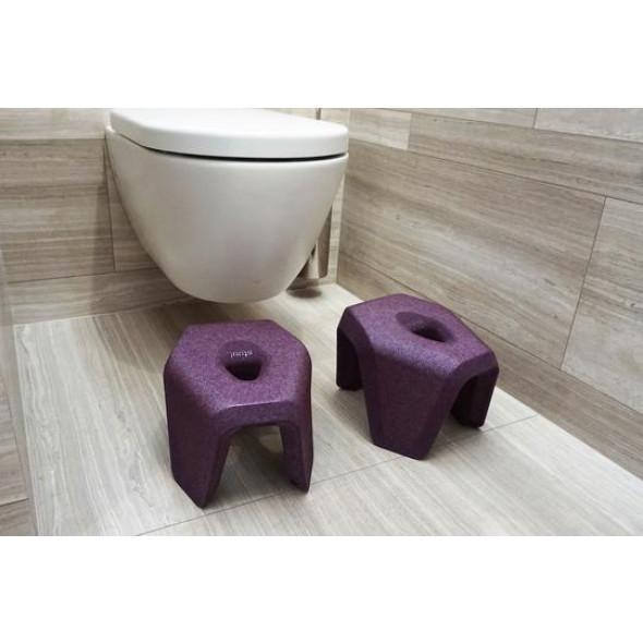 Tabouret de Toilette stuul   Violet