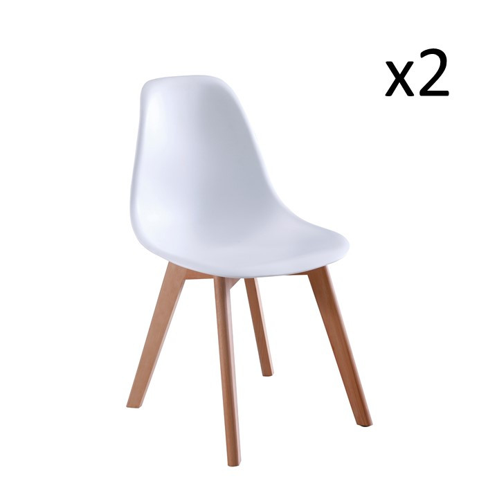 Chaise Liz Set de 2 | Blanc