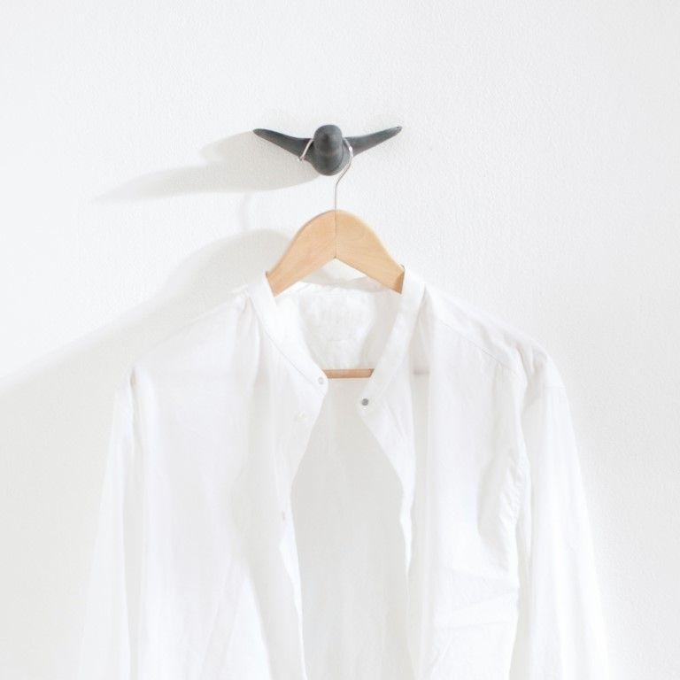 Wandhaken Vogel Satz von 3   Schwarz