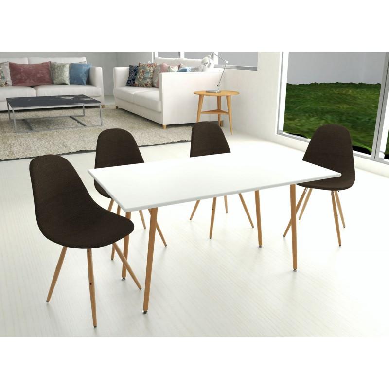 Tisch Manda 120x80 cm | Weiß