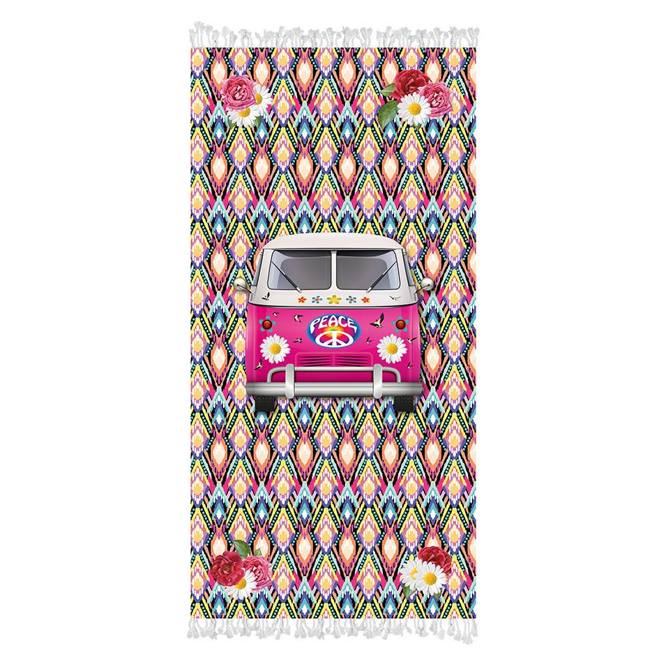 Strandtuch Hippie-Wagen
