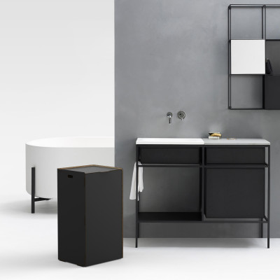 Einseitiger Wäschehalter Bibox | Schwarz