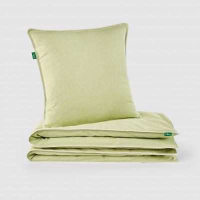 Bettbezug und Kissen   Grün
