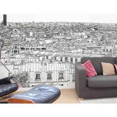 Tapete Vue de Paris Montparnasse Tour Eiffel | Großes Panorama