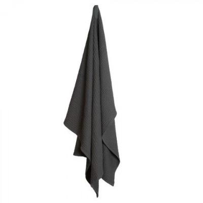 Big Waffle Towel/Blanket   Dark Grey