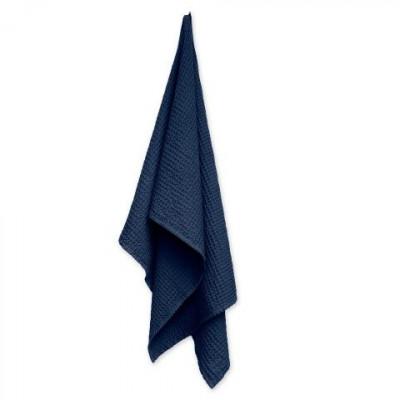 Big Waffle Towel/Blanket   Dark Blue