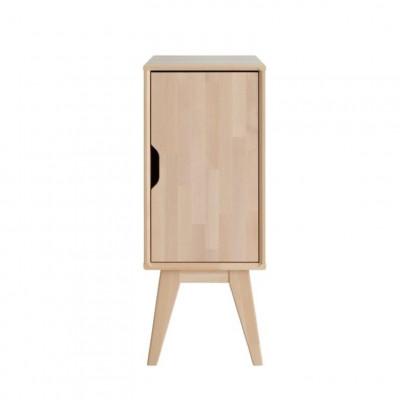 Nachttisch mit Tür Kolo | Birkenholz