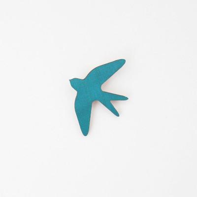 Snug. flower bird   Teal