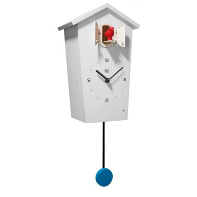 Birdhouse Cuckoo Clock White