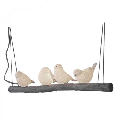 Pendant Lamp Birds on a Branch   White