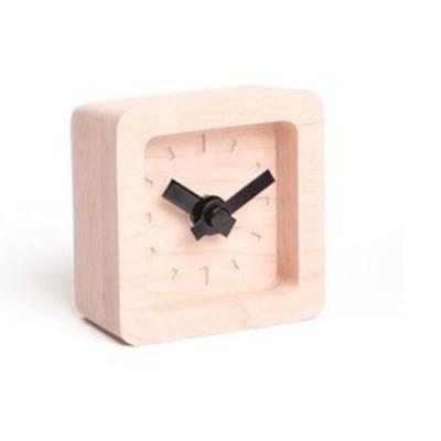 Bit Mini Clock   Maple & Black