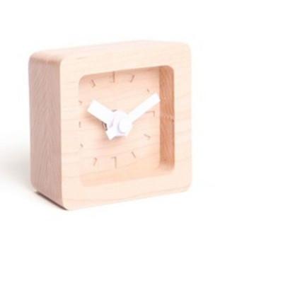 Bit Mini Clock   Maple & white