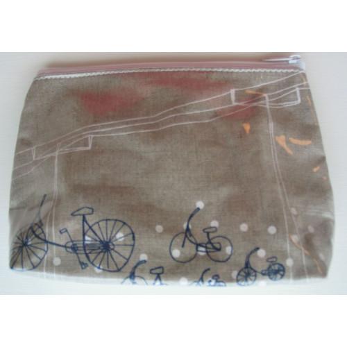 Cosmetic Bag Bicycle Dot