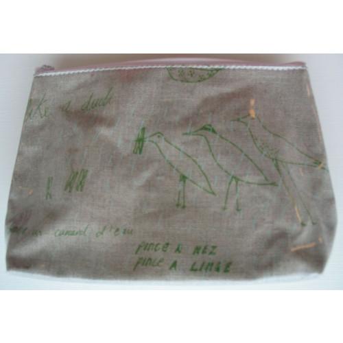 Cosmetic Bag Collander Birds
