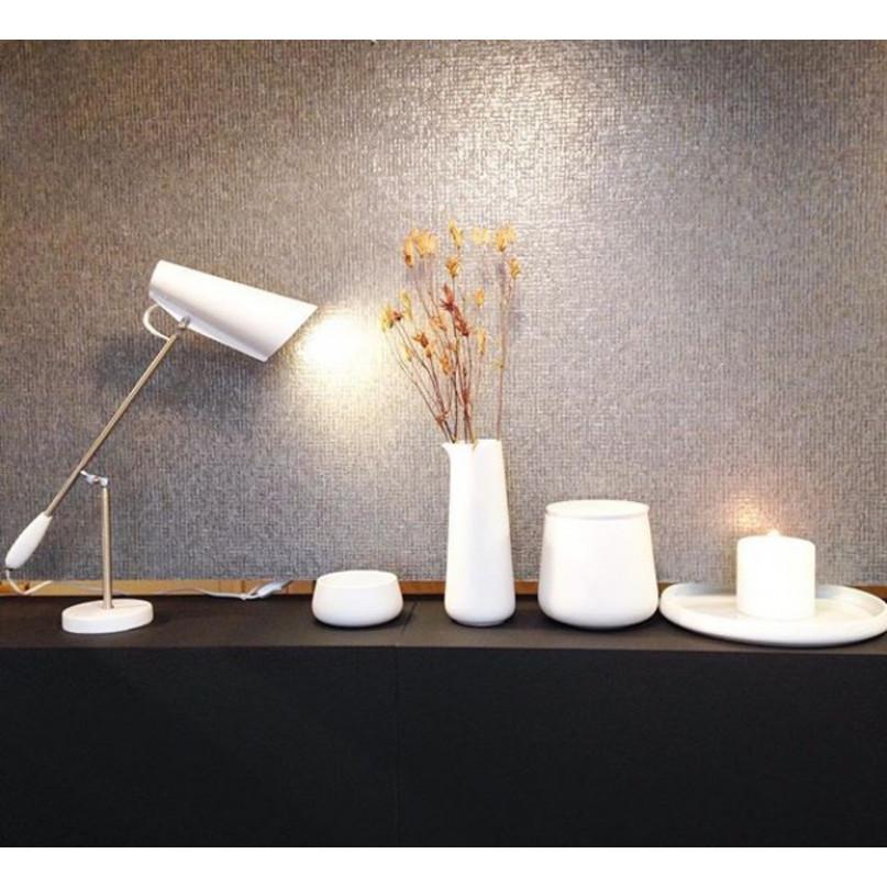 Table Lamp Birdy   White Metallic