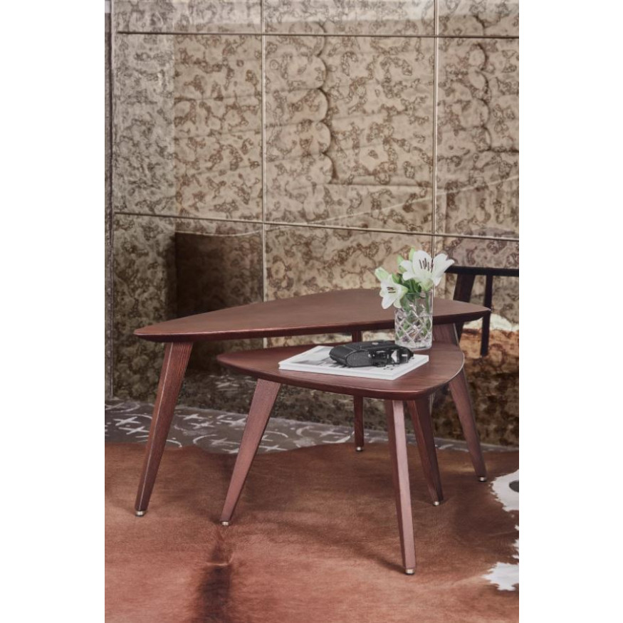 Triangle Coffee Table Fox Medium | Dark Brown