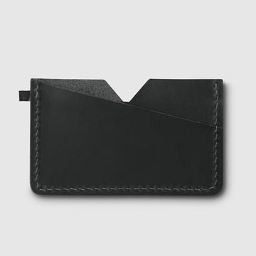 Kartenhalter  Slim   Schwarz Leder