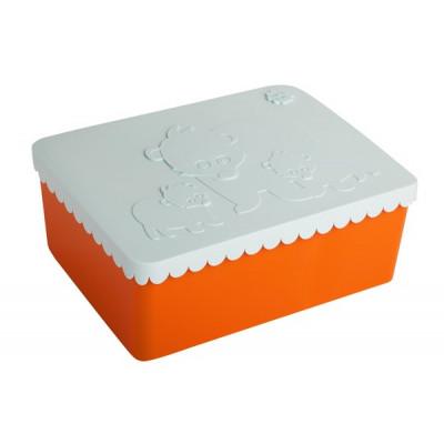 Lunchbox Bär | Orange & Hellblau