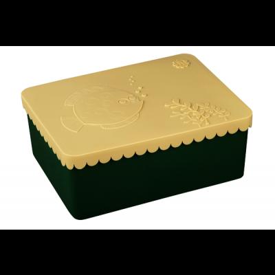 Lunchbox Fisch | Beige & Grün
