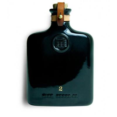 Black Ceramic Flask