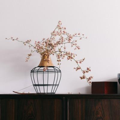 Vase Die neue alte Vase | Schwarz