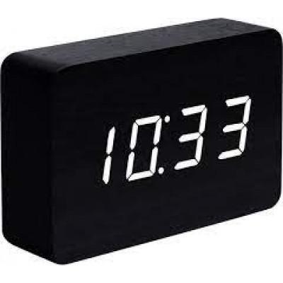 Ziegel-Klick-Uhr | Schwarz-Weiß