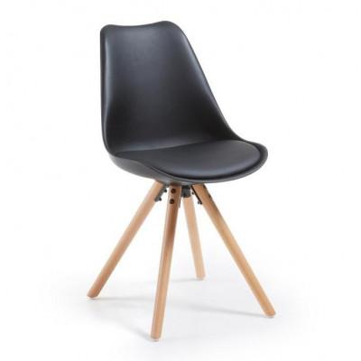 Stuhl Tars | Schwarz & Holz