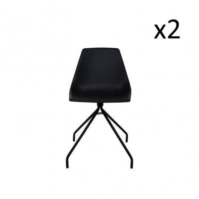 Schreibtischstuhl Spider Black   2er-Satz