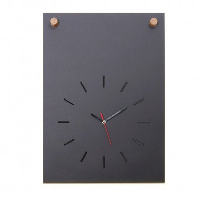 Poster + Uhr | Schwarz