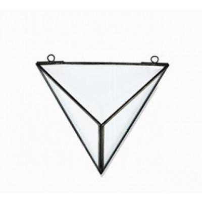 Karana Wall Hung Planter Triangle   Antikschwarz