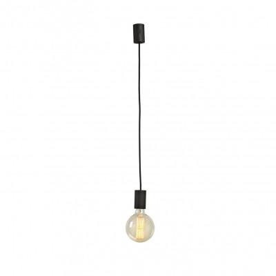 Single Light Pendant   Black