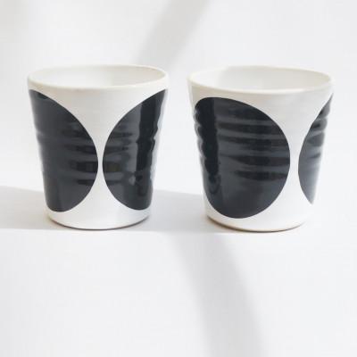TINA Mug Set of 2   Black
