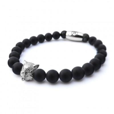 B' Wolf Bracelet   Black